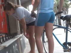 Well trained ass of a bicyclist girl