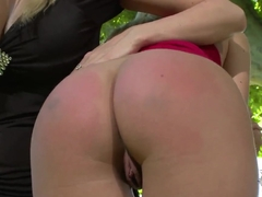 Danielle Maye and Lexi Lowe having fun outside
